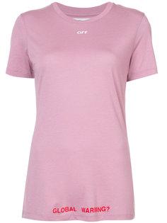 футболка с принтом-логотипом Off-White