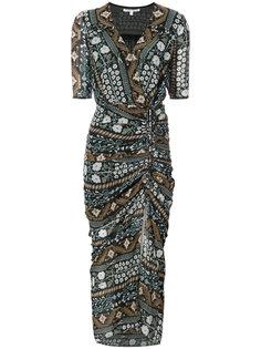 платье с запахом и цветочным узором Veronica Beard