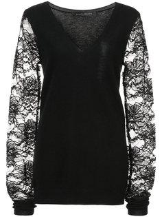пуловер с кружевными рукавами Sally Lapointe