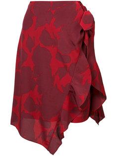 юбка с абстрактным цветочным принтом Derek Lam 10 Crosby