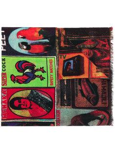 шарф с комбинированным принтом Paul Smith