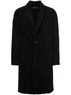 фактурное однобортное пальто Roar