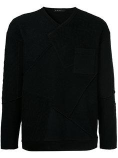 фактурный свитер лоскутного кроя Roar