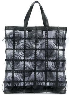 сумка-шоппер из органзы Comme Des Garçons Noir Kei Ninomiya