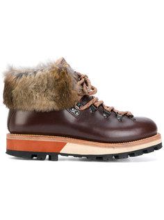 ботинки с меховой отделкой Woolrich