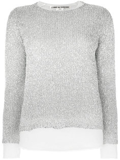свитер в рубчик с люрексом Comme Des Garçons