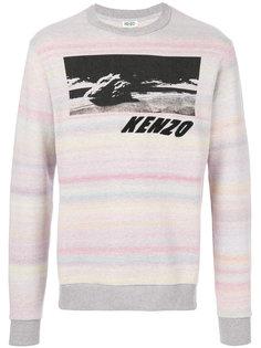 свитер в полоску с принтом Kenzo