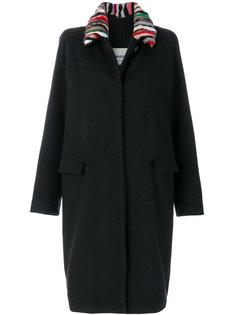 однобортное пальто с поясом  Ava Adore