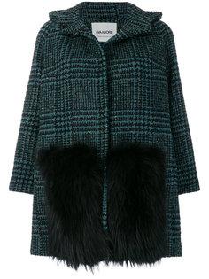 пальто в клетку  Ava Adore