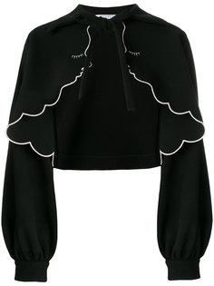 укороченная куртка с волнистой отделкой Vivetta