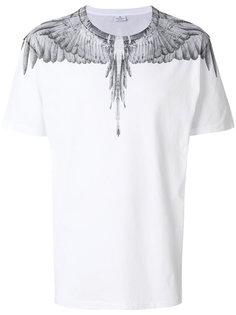 футболка с принтом перьев Marcelo Burlon County Of Milan