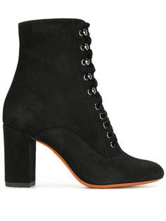 ботинки по щиколотку на шнуровке Santoni