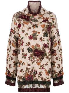 свободный свитер с цветочным узором  Antonio Marras