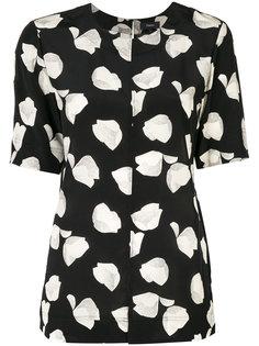 блузка с цветочным принтом  Theory