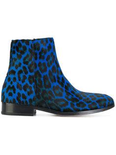 ботинки с леопардовым принтом Ps By Paul Smith