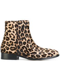 леопардовые ботинки по щиколотку Ps By Paul Smith