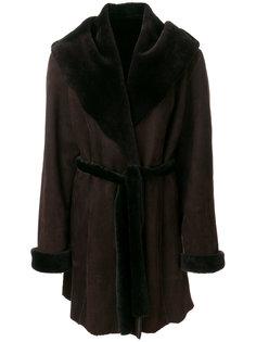 пальто с цигейкой  Liska