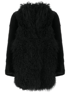 пальто с отделкой из овчины  Sylvie Schimmel