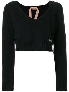 свитер с V-образным вырезом  Nº21