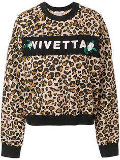 толстовка с леопардовым принтом и логотипом  Vivetta