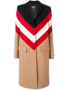 пальто к контрастными полосками MSGM