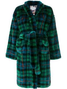 свободное пальто в шотландку Esteban Cortazar
