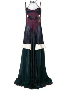 длинное платье  с вырезными деталями  Esteban Cortazar