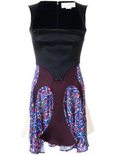 платье с корсетом и панельным дизайном Esteban Cortazar