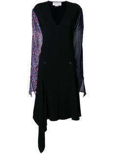 платье миди с прозрачными рукавами Esteban Cortazar
