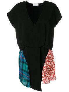 платье с комбинированным принтом Esteban Cortazar