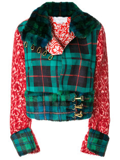 байкерская куртка с контрастными панелями Esteban Cortazar