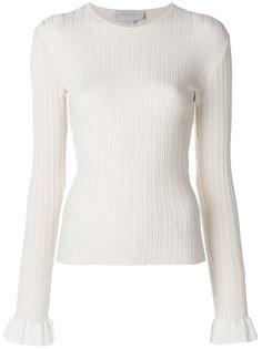 свитер с расклешенными манжетами в рубчик  Esteban Cortazar