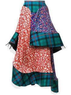многослойная юбка в шотландку Esteban Cortazar
