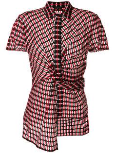 асимметричная рубашка с рисунком Versace