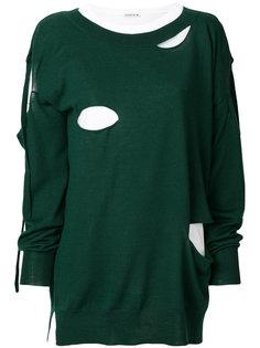 свитер свободного кроя с вырезами P.A.R.O.S.H.