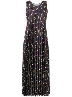 плиссированное платье с цветочным узором P.A.R.O.S.H.