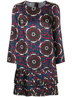 платье с длинными рукавами с цветочным принтом P.A.R.O.S.H.
