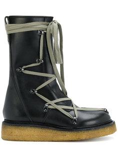 сапоги на шнуровке в рабочем стиле Rick Owens