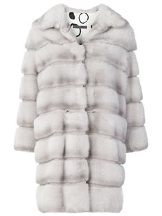 пальто с норковыми панелями Simonetta Ravizza
