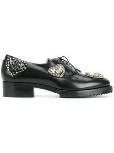туфли на шнуровке с заклепками Nº21