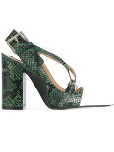 туфли с эффектом змеиной кожи Nº21
