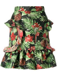 жаккардовая юбка с тропическим принтом Alcoolique