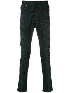 джинсы с принтом змеиной кожи Balmain