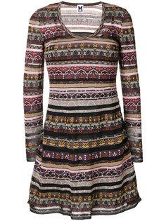 панельное платье с принтом M Missoni