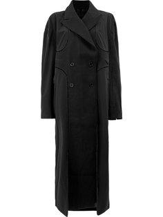 двубортное пальто с декоративной строчкой  Yang Li