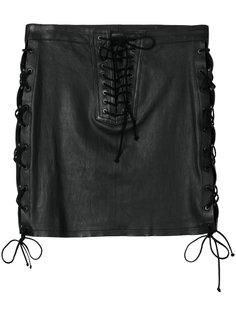 мини-юбка с боковой шнуровкой Unravel Project
