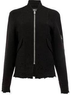 состаренная куртка на молнии  Yang Li