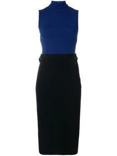 приталенное платье в двух тонах David Koma