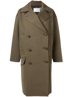 свободное двубортное пальто  Toga