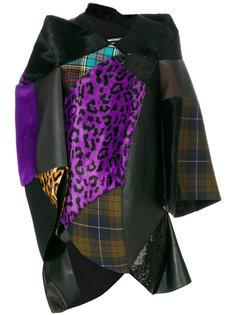 структурированное лоскутное пальто Junya Watanabe Comme Des Garçons